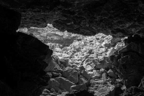 Ron Jude, <i>Lava Tube Ceiling Collapse</i>, 2018,pigment print, 42 x 56 inches